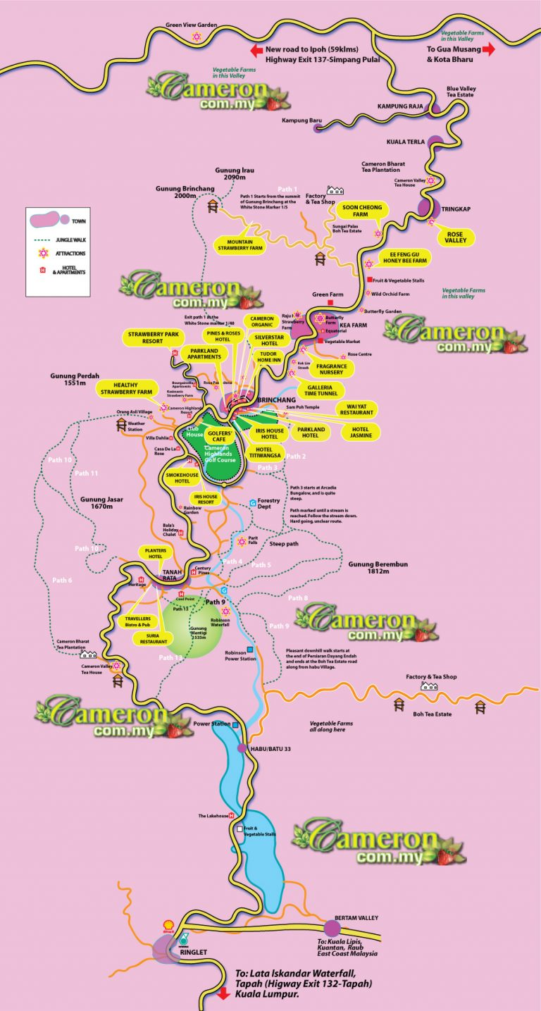 cameron highlands big map