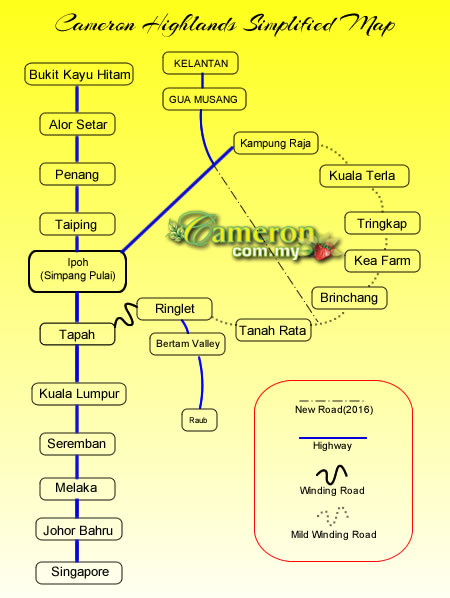 cameron highlands simple map